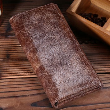 retro vintage handmade genuine leather card hold wallet purse 11