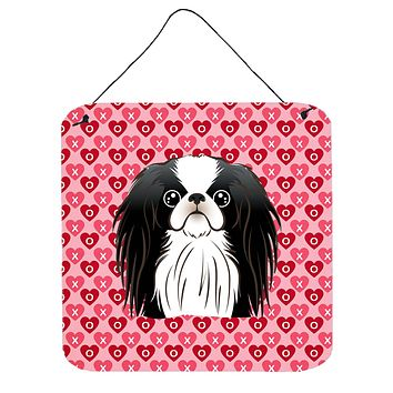 Japanese Chin Hearts Wall or Door Hanging Prints BB5300DS66