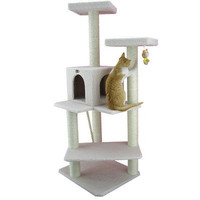 """Armarkat 57"""" Classic Cat Tree in Ivory"""