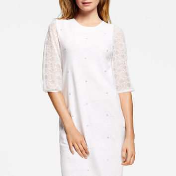 Lace-sleeve Dress