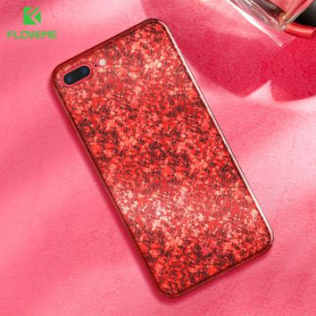 FLOVEME Case For iPhone 6 6S 7 Fashion Ultra Slim Hard PC Back Cover Case For iPhone 6 6S Plus 7 Plus Chic Ice Crack Phone Cases