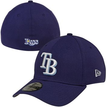 Men's Tampa Bay Rays New Era Navy MLB Team Classic 39THIRTY Flex Hat