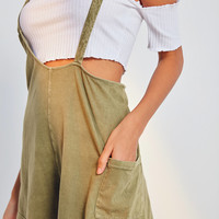Out From Under Own It Asymmetrical Overall Romper | Urban Outfitters
