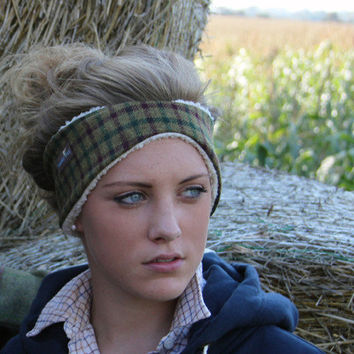 Timothy Foxx — Tweed-ear-warmers-muffs-headband-Country-fashion-head-cuff-handmade-Birtish-warm — British Designed, Ladies' & Gentlemens' Tweed Clothing