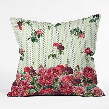 Belle13 Vintage Rose Pattern Throw Pillow