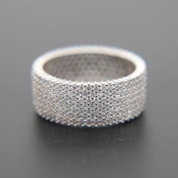 top quality #8 9 10 11 full micro pave cz engagement band boy mens hip hop bling zirconia fashion silver ring for men
