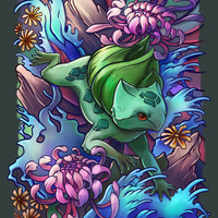 Grass Reptile Art Print by TsaoShin