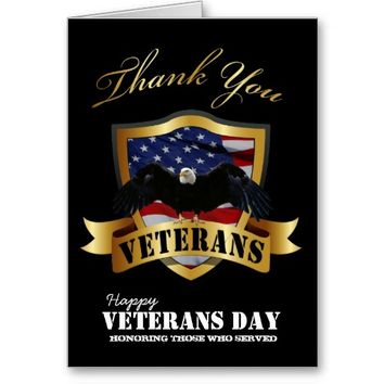 Happy Veterans Day Thank You Cards