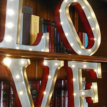 """Lighted """"Love"""" Marquee"""