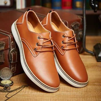 Men's Genuine Leather Comfortable Business Casual Shoes