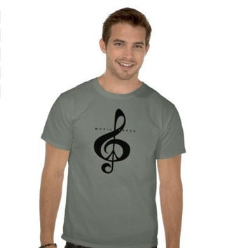 Stone Green T Shirt, Black, Moss Green, Music Lover, Treble Clef, Peace Sign, Rock, Cool, Edgy, Happy, Fun, Men, Women, Woodland, Christmas
