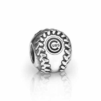 PANDORA Chicago Cubs MLB Baseball Charm