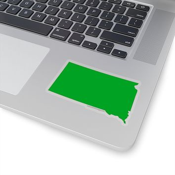 South Dakota State Shape Sticker GREEN