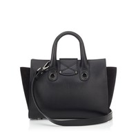 Black Smooth Leather and Suede Tote Bag | Riley S | Cruise 15 | JIMMY CHOO Bags