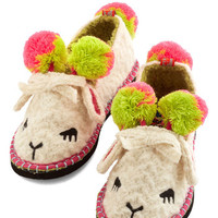 ModCloth Quirky For Feet's Sake Slippers in Lamb