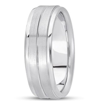14K Gold Mens Fancy Wedding Band (7mm)
