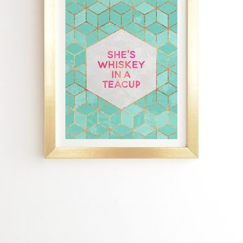 Elisabeth Fredriksson Whiskey In A Teacup Framed Wall Art