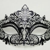 Halloween Bendable Laser Cut Black Mask