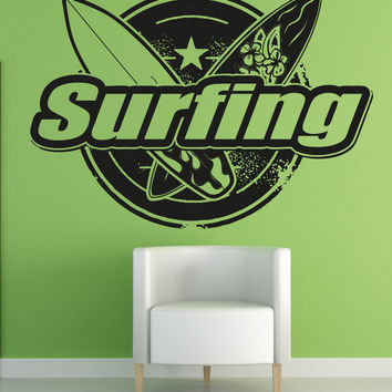 Vinyl Wall Decal Sticker Surfing #OS_AA1244
