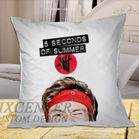 Ashton Irwin 5SOS Cover on Square Pillow Cover