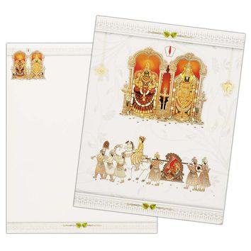Majestic Venkateshwara Wedding Invitation Card-KNK4578