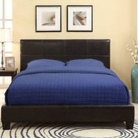 Modus Furniture 7G08F5 Ledge Upholstered Platform Bed, Queen, Chocolate