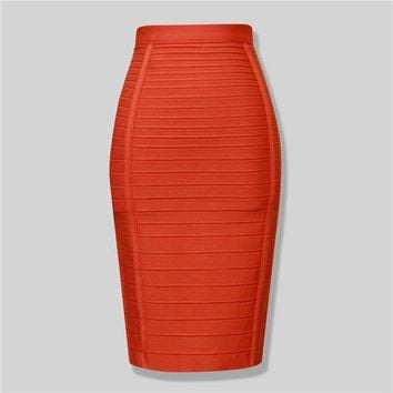 Elastic Bandage Pencil Skirt