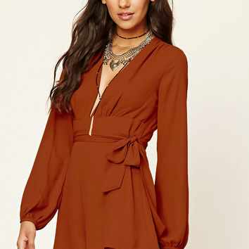 Contemporary Belted Romper