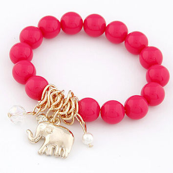 Bohemian Plastic Beads charm bracelets & bangles for women men jewelry lovely vintage pendant friendship pulseras bracelet