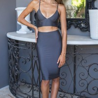 Luxe Skirt Steel - Clothing