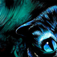 """FREE SHIPPING - Limited Edition Cheshire Cat Print - 8""""x10"""""""