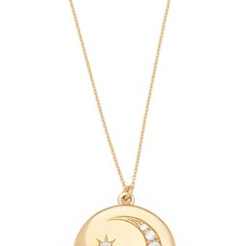 Moon and Star Locket Necklace