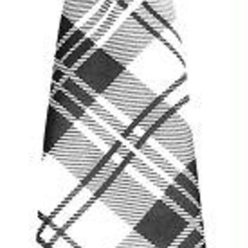 Big Dog Neck Tie Plaid White