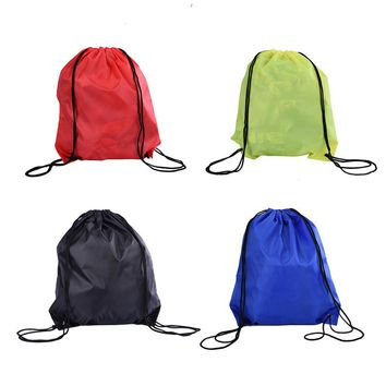 Outdoor Sport Swimming Bags Nylon Waterproof Backpack Convenient for Practical Drawstring Beach Bag Travel Bags 4 Colors