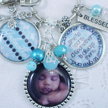 Personalized Godmother Gift,  Personalized GodMother Key Chain, Personalized God Mother Gift, Personalized Godparent Key Chain,