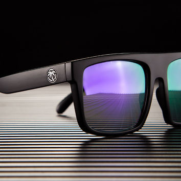 Regulator Sunglasses: Blackout W/ Black & White Emblems