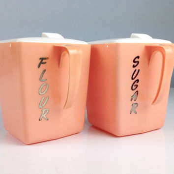 best pink canisters products on wanelo pink metal ransburg kitchen canister set
