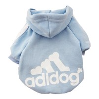 Zehui®  Pet Dog Cat Sweater Puppy T Shirt Warm Hoodies Coat Clothes Apparel Blue S
