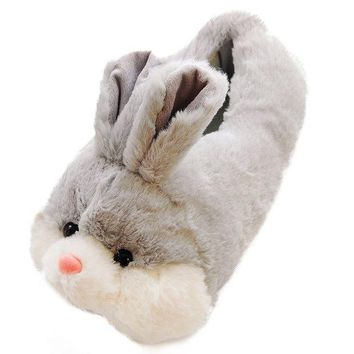 DCCKUG3 Caramella Bubble Classic Bunny Slippers | Fuzzy Slippers For Lovers | Cozy Fun Plush Indoor Shoe | Soft Sole Clog | Warm Anti-Slip House Slippers For Women
