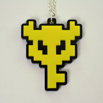 Legend of Zelda Master Key Pendant Necklace - Laser Cut Acrylic Boss Key