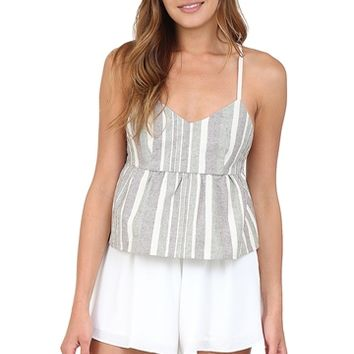 Striped Peplum Crop Top at Blush Boutique Miami - ShopBlush.com : Blush Boutique Miami – ShopBlush.com