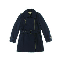 MICHAEL Michael Kors Womens Wool Epaulettes Trench Coat