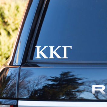 Kappa Kappa Gamma Car Decal | Kappa Kappa Gamma Car Sticker | Kappa Kappa Gamma Sorority | Kappa Kappa Gamma Laptop | Greek Car Decal | 166