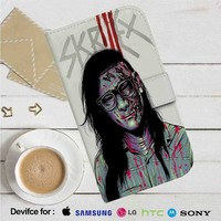 Skrillex Zombie Leather Wallet iPhone 4/4S 5S/C 6/6S Plus 7| Samsung Galaxy S4 S5 S6 S7 NOTE 3 4 5| LG G2 G3 G4| MOTOROLA MOTO X X2 NEXUS 6| SONY Z3 Z4 MINI| HTC ONE X M7 M8 M9 CASE