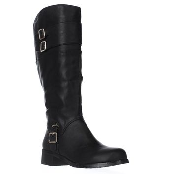 Bella Vita Adriann II Wide Calf Knee High Boots, Black, 11 W US