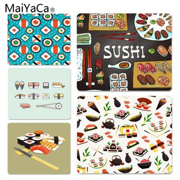 MaiYaCa  Sushi Japan Yummy Food DIY Design Pattern Game mousepad Size for 18x22x0.2cm Gaming Mousepads