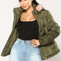 Bonnie Puffer Jacket - Olive