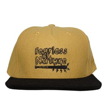Fearless By Nature Snapback Hat in yellow