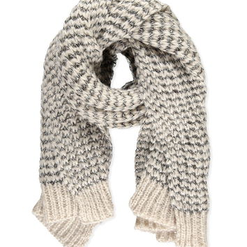 Loose Knit Oblong Scarf