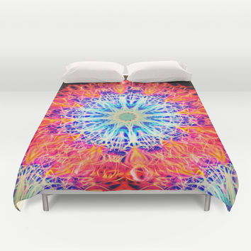 PSYCHEDELIC FAYA Duvet Cover by Chrisb Marquez